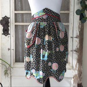 Vintage Handmade Tie waist Apron with Pockets S/M